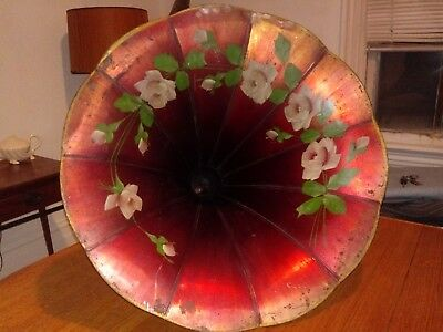 "Antique Columbia Phonograph Horn Harmony Morning Glory Original Paint 27"" by 23"""