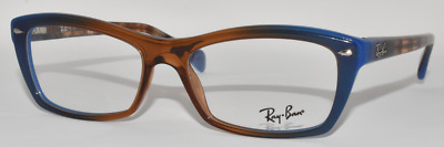 ce17eb825c New Authentic Ray Ban Eyeglasses Rb5255 5488 Gradient Brown On Blue  51-16-135
