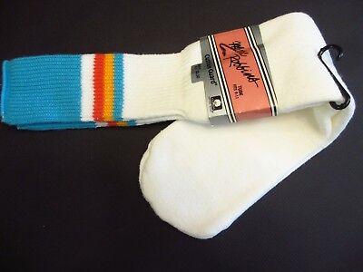 NEW NOS VINTAGE NWT MENS TUBE SOCKS MARC ROBBINS 1970s HTF COLOR TURQUOISE USA