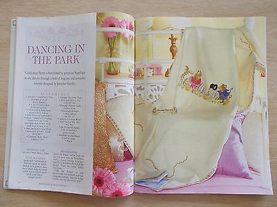 Embroidery & Cross Stitch Vol 13 #11~Birth Sampler~Orchid~Crochet~Lace~Bag~Bead