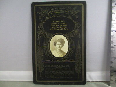 Antique Funeral Cabinet Card