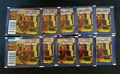 Panini  marvel ultimate spiderman stickers 10 pack lot unopened 70 stickers