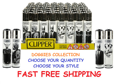 BIG Size CLIPPER Refillable Full Lighters DOGGIES COLLECTION LIGHTER - Beware Of
