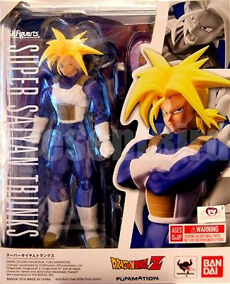 New Super Saiyan Trunks Figure SHFIGUARTS Bandai Dragon Ball Z Blue Unopen Armor