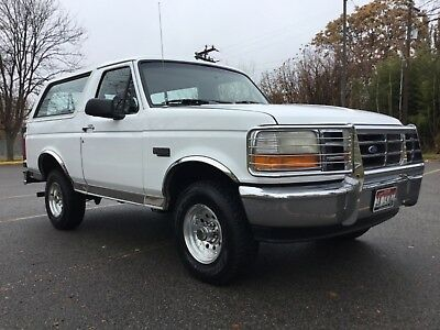 1996 Ford Bronco XL Very, Very Clean All Original and 100% Rust Free 1996 Ford Bronco XL