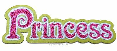 Pink Royal Princess Iron//Sew On Embroidered Patch Motif Applique Up to 40/% off
