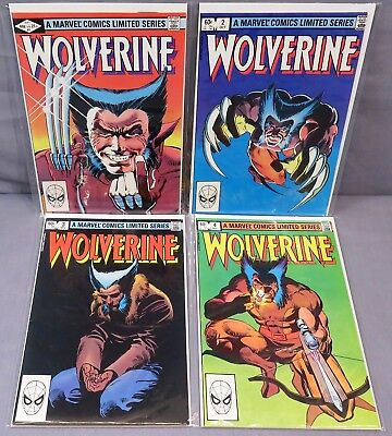 WOLVERINE #1 2 3 4 (Limited Series Full Run 1-4) FN/VF Marvel 1982 Frank Miller