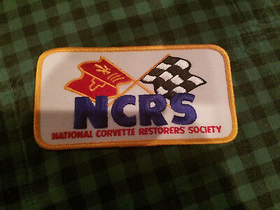 National Corvette Restorers Society NCRS Sew on Patch Nascar Racing Never Used