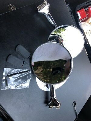 "Vintage Style Pair Of Straight Arm Mirrors Chevy,Ford,dodge,Buick 4""Round Mirror"