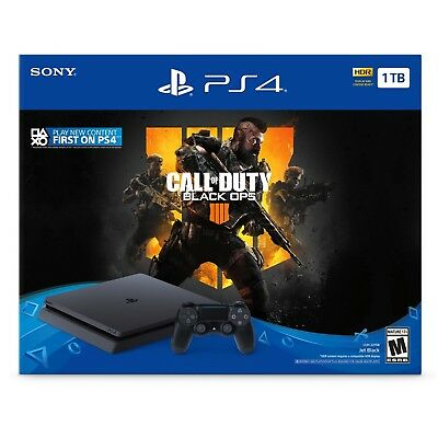 PlayStation 4 Slim 1TB Console - Call of Duty: Black Ops 4 Bundle Christmas Gift