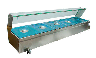 "6 "" Bain-Marie Buffet Steam Table Restaurant Food Warmer 110V High Quality 5 Pan"