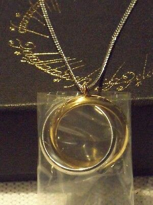 """Lord of the Rings One Ring Entwined Necklace by Noble Stainless Steel 18"""" Chain"""
