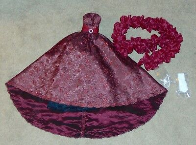 OOAK OUTFIT KITTY COLLIER Cranberry Organza Gown WS Doll FASHION