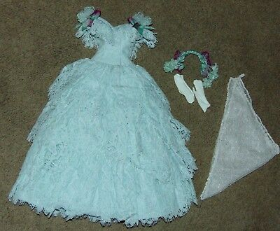 OOAK OUTFIT KITTY COLLIER Layered Green Lace Gown WS Doll FASHION