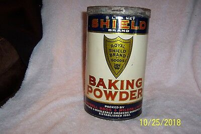 "Vintage CAMPBELL BROS & WILSON, LIMITED ""Shield"" Brand 5 Lb. TIN ~ EMPTY"