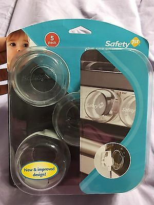 Safety 1st Clear View Stove Knob Covers, 5 Count, New, Free Shipping