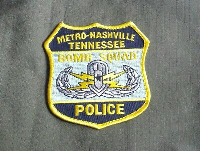 Nashville Tennessee Metro Police Bomb Squad Shoulder Patch