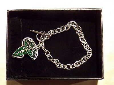 Lord of the Rings Elven Brooch Charm Bracelet Sterling Silver by Noble NEW