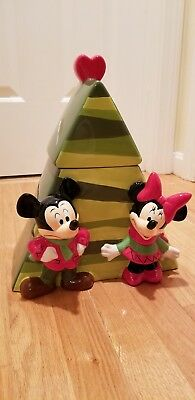 Disney Mickey and Minnie Mouse Christmas Cookie Jar