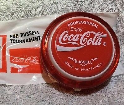 Coca Cola Professional. Russell Yoyo New, Plus 1 Pack Genuine Russell Strings