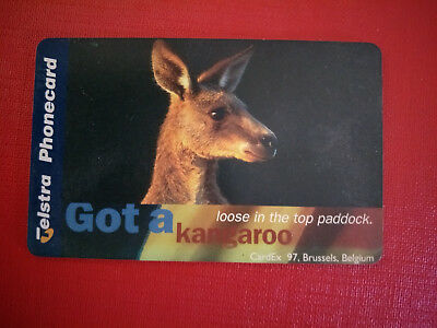 Mint $5 Cardex '97 Kangaroo Phonecard 970005011P Exp 01/2000 Very Limited Issue