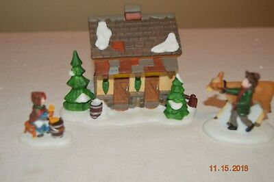"""Department 56 Dickens Village Accessory """"Tending the New Calves"""" (58395)"""