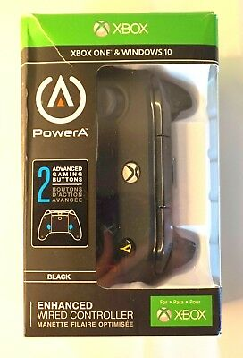 NEW OPEN BOX! PowerA Enhanced Wired Controller for Xbox One - Black