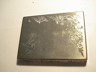 Stunning American Beauty Sterling cigarette case