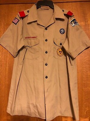 Bsa Boy Scouts Of America Short Sleeve Adult Large Shirt