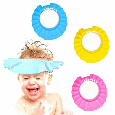 Adjustable Baby Child Toddler Bath Shower Shampoo Cap Hat Wash Hair Shield AS