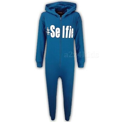 Kids Boys #Selfie Turquoise A2Z Onesie One Piece Summer Jumpsuit PJ's 5-13 Years