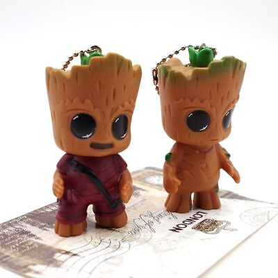 2x Guardian of the Galaxy Vol.2 Baby Groot Porte-clés Keyring Figure Toy cadeaux