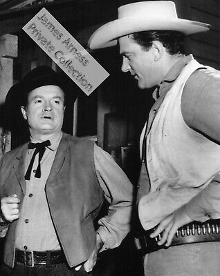 """James Arness """"Gunsmoke"""" Private Collection  with Bob Hope  8 x 10 Candid"""