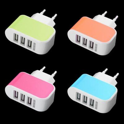 Universal USB 3Port Wall Home Travel Power Charger Adapter For iphone Samsung AS