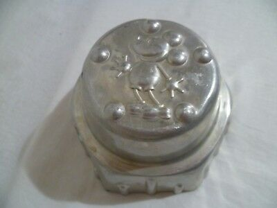 Vintage Aluminium Mickey Mouse Jelly Mould Mold Mousse Kitchenalia Collectable