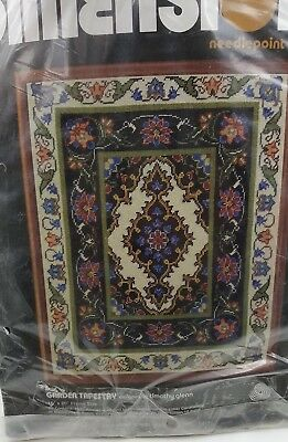 Needlepoint Kit Dimensions Garden Tapestry 2164 Timothy Glenn Vintage 1981 New