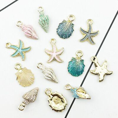 13Pcs Conch Sea Shell Pendant Charms Jewelry Pendant Handmade DIY Decor Gifts