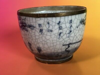 Japanese or Chinese Porcelain Blue & White Cup Asian Ceramic Antique ?