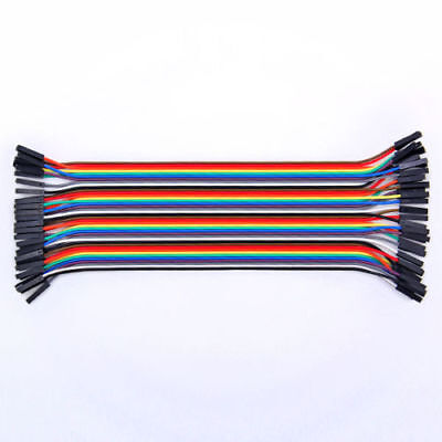 40x Cables Hembra Macho 20cm Jumpers Dupont 2,54 Arduino Protoboard Male-Female