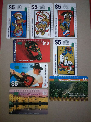 8 Mint Telecom Phonecards Group 1