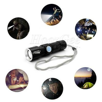 USB Rechargeable LED MTB Bike Bicycle Cycle Head Front Light Lamp RF