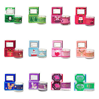 Bath & Body Works Mini Scented Candles Burn Approx 10 Hours With Xmas Gift Box
