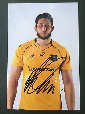 Adam Coleman - Australia Rugby Player Signed 6x4 Photo