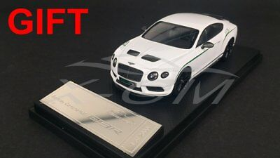 Car Model Almost Real Bentley Continental GT3-R 2015 1:43 (White) + SMALL GIFT!!