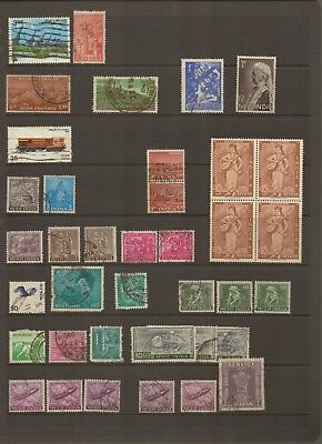 INDIA - Selection of Used POSTAGE Stamps but includes one MINT BLOCK