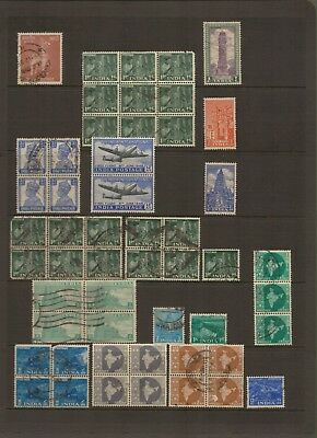 INDIA - Selection of Used POSTAGE Stamps plus one MINT BLOCK