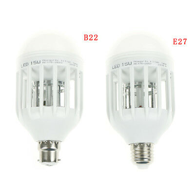 Led Bulb E27/B22 15W Anti-Mosquito Insect Zapper Flying Moth Killer Light LampCG