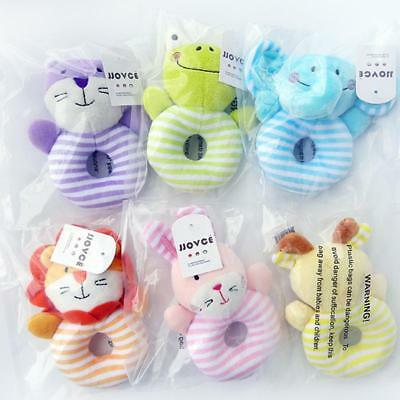 Plush Baby Soft Rattles Newborn Baby Toys 0-12 Months Gift Set Rattles Toys T