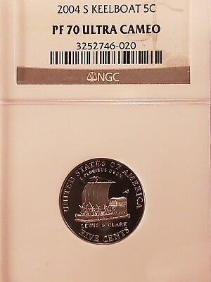 Ngc 2004 S Keelboat Jefferson Nickel Proof 70 Ultra Cameo  5C