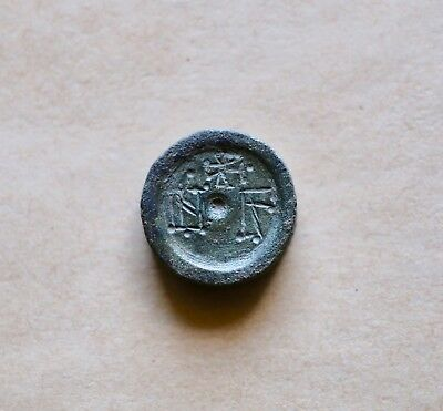 Early byzantine bronze weight for 3 solidi (5th-6th cent.). Excellent piece!